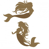 Creative Embellishments - Chipboard - Mermaid Pair
