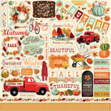 Carta Bella - Cardstock Stickers 12x12 - Fall Break (CBFA88014)