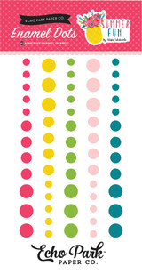 Echo Park - Adhesive Enamel Dots - 60/Pkg - Summer Fun (SF125028)