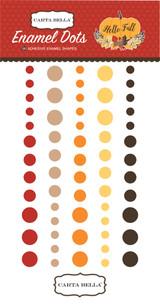Carta Bella - Adhesive Enamel Dots - 60/Pkg - Hello Fall (CBHF70028)