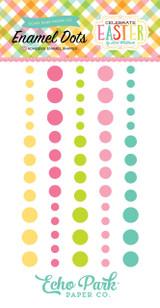 Echo Park - Adhesive Enamel Dots - 60/Pkg - Celebrate Easter (CE121028)