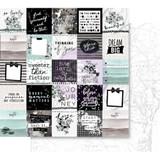 Prima - Double sided 12x12 Scrapbook Paper w/Foil Accents - Flirty Fleur - So Lovely 848316