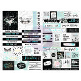 Prima - Words & Quotes W/Foil Accents Stickers - Flirty Fleur 597658