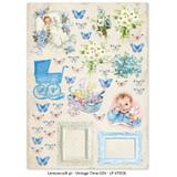Lemon Craft - Lullaby - Decorative paper - Cut-apart Baby Boy Images - Vintage Time 026 (LP-VT026)