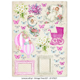Lemon Craft - Lullaby - Decorative paper - Cut-apart Baby Girl Images - Vintage Time 027 (LP-VT027)