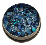 28 Lilac Lane Tin W/Sequins 40g - Denim Blues (LL306)