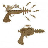Creative Embellishments - Chipboard - Ray Guns