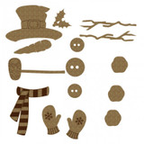 Creative Embellishments - Chipboard - Snowman Pieces