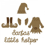 Creative Embellishments - Chipboard - Santa's Helper Set