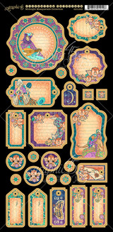 Midnight Masquerade - Graphic 45 - Journaling Chipboard