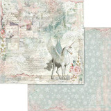 Stamperia - Double sided 12x12 Paper - Unicorn Fantasy SBB558