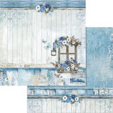 Stamperia - Double sided 12x12 Paper - Blue Land Window (SBB561)