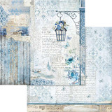 Stamperia - Double sided 12x12 Paper - Blue Land Lamp (SBB562)