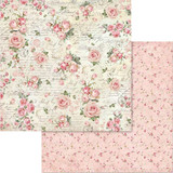 Stamperia - Double sided 12x12 Paper - Pink Christmas Little Roses & Scriptures SBB579 SBB700