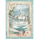 Stamperia - Decoupage Rice Paper 8.25 x 11.5 - Unicorn (DFSA4346)
