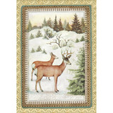 Stamperia -Winter Botanic Reindeer - Decoupage Rice Paper 8.25 x 11.5