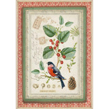 Stamperia - Winter Botanic Little Bird On Holly - Decoupage Rice Paper 8.25 x 11.5 (DFSA4326)