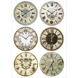 Stamperia - Packed Clocks - Decoupage Rice Paper 8.25 x 11.5 DFSA4316