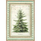 Stamperia - Winter Botanic Christmas Tree - Decoupage Rice Paper 8.25 x 11.5 DFSA4327