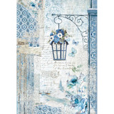 Stamperia - Blue Land Lamp - Decoupage Rice Paper 8.25 x 11.5 (DFSA4336)