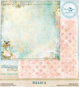 Blue Fern Studio - Seaside Cottage 12x12 dbl sided paper - Relics (129575)