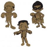 Creative Embellishments - Chipboard - Little Monsters 1 - Frankenstein Mummy Super Hero