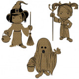 Creative Embellishments - Chipboard - Little Monsters 2 - Ghost Witch Devil Girl