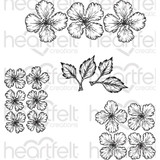 Heartfelt Creations Cling Rubber Stamp Set - Oakberry Lane Blossoms HCPC3842