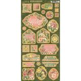 Graphic 45 - Chipboard Die-Cuts 6x12 - Garden Goddess