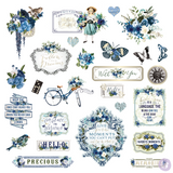 Prima - Ephemera & Sticker sheet 41 pieces - Georgia Blues