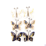 Prima - Butterflies w/Gold Accents - Georgia Blues - Warren