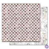 Prima - Double sided 12x12 Scrapbook Cardstock Paper w/Foil Accents - Lavender Frost - Hidden Truth