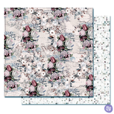 Prima - Double sided 12x12 Scrapbook Cardstock Paper w/Foil Accents - Lavender Frost - The Road To You
