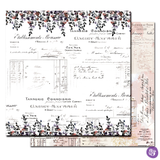 Prima - Double sided 12x12 Scrapbook Cardstock Paper w/Foil Accents - Lavender Frost - My Confession