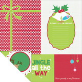 "Kaisercraft - Double-Sided scrapbooking paper 12""X12"" - Mint Twist - Ho, Ho, Ho! P934"