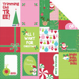 "Kaisercraft - Double-Sided scrapbooking paper 12""X12"" - Mint Twist - Jingle P935"