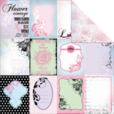 "Kaisercraft - Double-Sided scrapbooking paper 12""X12"" - Lavender Haze - Amethyst P1109"