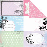 "Kaisercraft - Double-Sided scrapbooking paper 12""X12"" - Lavender Haze - Orchid P1110"