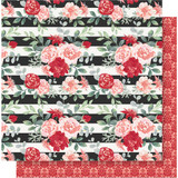 """Simple Stories - Kissing Booth Double-Sided Cardstock 12""""X12"""" - Smitten KISS12 - 10382"""
