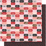 """Simple Stories - Kissing Booth Double-Sided Cardstock 12""""X12"""" - Crazy For You KISS12 - 10386"""