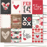 """Simple Stories - Kissing Booth Double-Sided Cardstock 12""""X12"""" - 3""""X4"""" Elements KISS12 - 10387"""