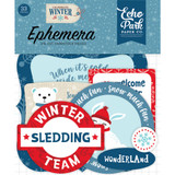 Echo Park - Ephemera Cardstock Die-Cuts 33/Pkg - Icons - Celebrate Winter CW162024