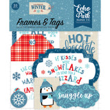 Echo Park - Ephemera Cardstock Die-Cuts 33/Pkg - Frames & Tags - Celebrate Winter CW162025