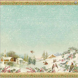 "Stamperia - Lake Landscape - Decoupage Rice Paper 19.5""X19.6"" DFT289"
