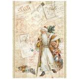 "Stamperia - Santa Claus - Decoupage Rice Paper 8.5""X11.75"" DFSA4199"