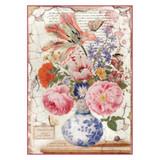 Stamperia - Vintage Vase - Decoupage Rice Paper 8.25 x 11.5 DFSA4277
