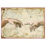 Stamperia - Michelangelo La Creazione Dell'uom - Decoupage Rice Paper 8.25 x 11.5 DFSA4282