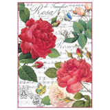 Stamperia - Red Roses & Music - Decoupage Rice Paper 8.25 x 11.5 DFSA4305