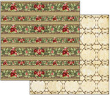 Stamperia - Double sided 12x12 Paper - Borders Of Red Roses SBB263