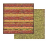 Stamperia - Double sided 12x12 Paper - Red Texture W/Stripe SBB421